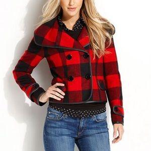 Kensie Buffalo Plaid Jacket